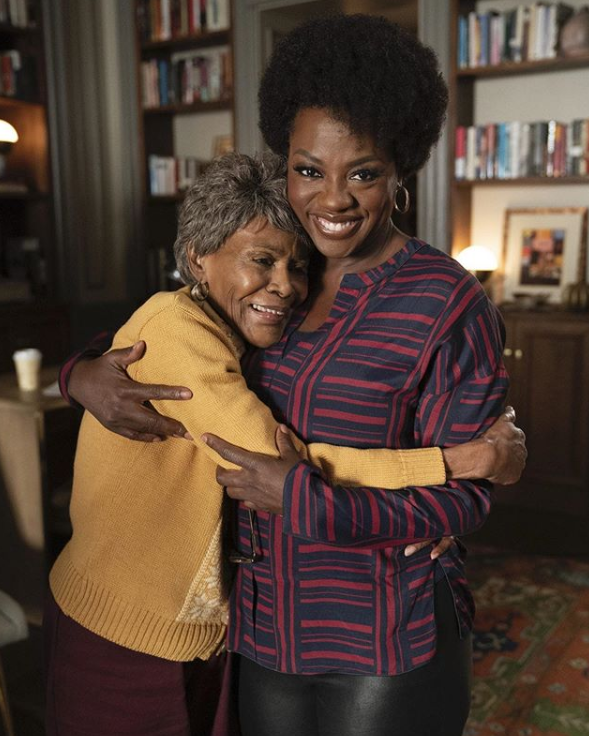 Viola Davis with her Mother (Heart)