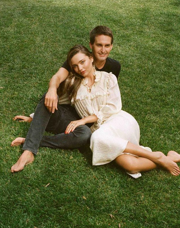 Evan Spiegel and Wife Miranda Kerr
