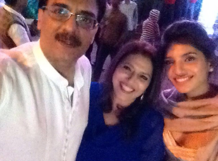 Miheeka Bajaj with her father and mother