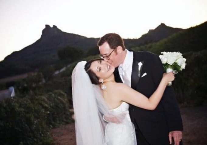 Crystal Kung Minkoff and Rob Minkoff married day