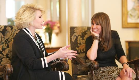 Melissa Rivers with her mother Joan Rivers